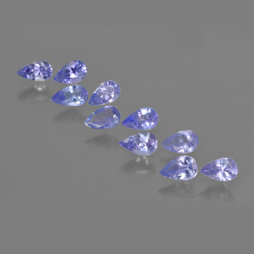 Violet Blue Tanzanite Gem - 0.2ct Pear Facet (ID: 462495)