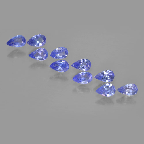 thumb image of 0.2ct Pear Facet Violet Blue Tanzanite (ID: 462501)