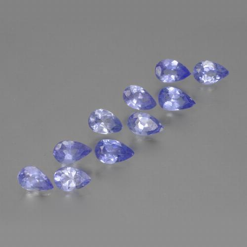 Violet Blue Tanzanite Gem - 0.2ct Pear Facet (ID: 462552)