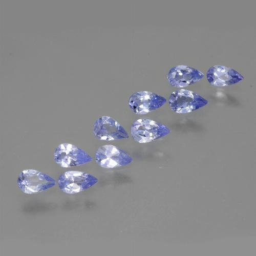 Medium Violet Tanzanite Gem - 0.2ct Pear Facet (ID: 462673)