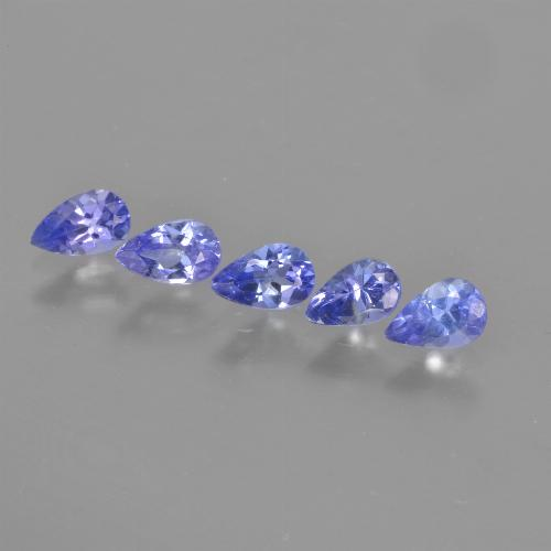 Violet Blue Tanzanite Gem - 0.2ct Pear Facet (ID: 462889)