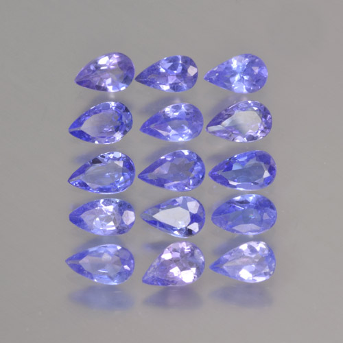 Violet Blue Tanzanite Gem - 0.2ct Pear Facet (ID: 462905)