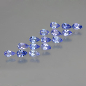 Violet Blue Tanzanite Gem - 0.2ct Pear Facet (ID: 462915)