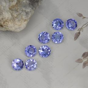 Violet Blue Tanzanite Gem - 0.2ct Round Facet (ID: 468235)
