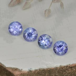 Violet Blue Tanzanite Gem - 0.3ct Round Facet (ID: 468331)