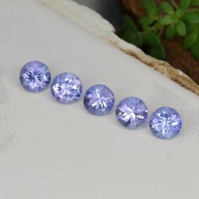 Violet Blue Tanzanite Gem - 0.3ct Round Facet (ID: 468443)