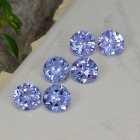Violet Blue Tanzanite Gem - 0.3ct Round Facet (ID: 468501)