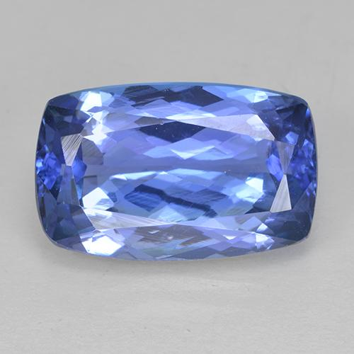 Violet Blue Tanzanite Gem - 5ct Cushion-Cut (ID: 499577)