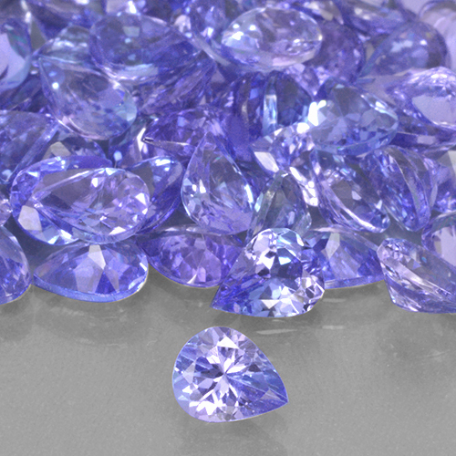 Violet Blue Tanzanite Gem - 0.3ct Pear Facet (ID: 503841)
