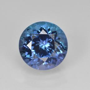 Violet Blue Tanzanite Gem - 3.1ct Round Facet (ID: 504015)