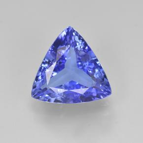 Violet Blue Tanzanite Gem - 3.6ct Trillion Facet (ID: 504019)