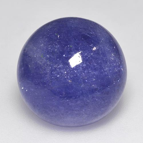Violet Blue Tanzanite Gem - 24.8ct Round Cabochon (ID: 522818)