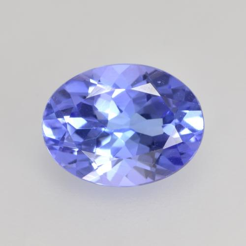 1.3ct Oval Facet Electric Blue Tanzanite Gem (ID: 535837)