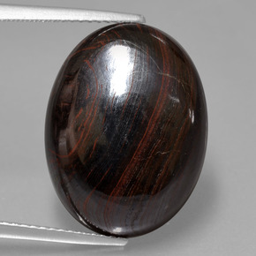 Multicolor Tiger's Eye Matrix Gem - 19.7ct Oval Cabochon (ID: 405806)