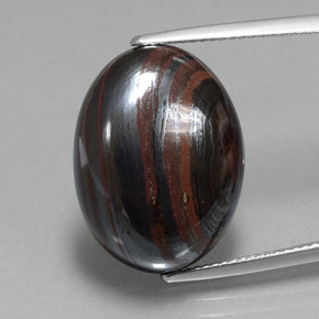Multicolor Tiger's Eye Matrix Gem - 22.3ct Oval Cabochon (ID: 405933)