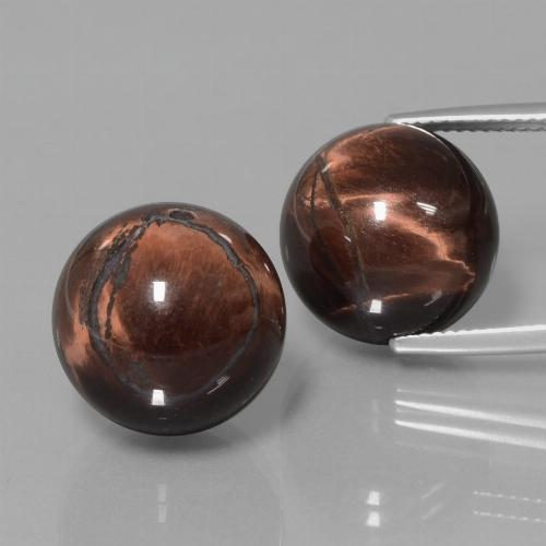 Multicolor Tiger's Eye Matrix Gem - 20.1ct Drilled Sphere (ID: 422949)