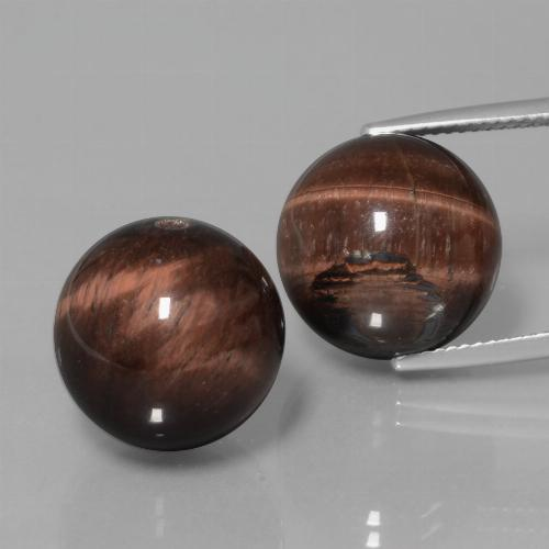 Multicolor Tiger's Eye Matrix Gem - 19.8ct Drilled Sphere (ID: 422953)