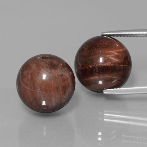 Multicolor Tiger's Eye Matrix Gem - 20.7ct Drilled Sphere (ID: 422975)