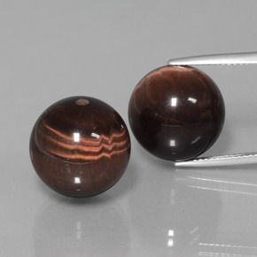 Multicolor Tiger's Eye Matrix Gem - 20.2ct Drilled Sphere (ID: 422977)