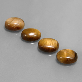 1.8ct Oval Cabochon Gold Brown Tiger's Eye Gem (ID: 342530)