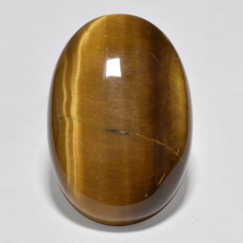 Medium Brown Tigerauge Edelstein - 20.5ct Oval Cabochon (ID: 389961)