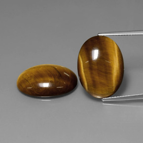 Gold Brown Tiger's Eye Gem - 10.3ct Oval Cabochon (ID: 390092)