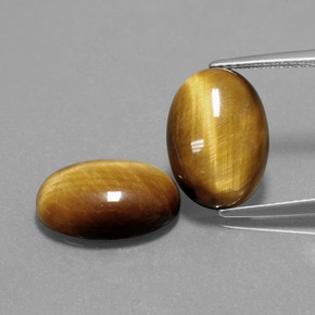 Gold Brown Tiger's Eye Gem - 4.5ct Oval Cabochon (ID: 390504)