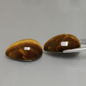 21x13x4 MM 24.60 Crt. Rectangle Shape Tiger Eye Pair Cabochon Tiger Eye Cabochon Jasper Pair Gemstone Wholesale Price