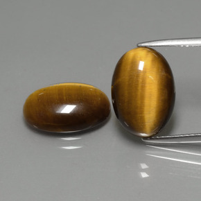 Gold Brown Tiger's Eye Gem - 4.5ct Oval Cabochon (ID: 390832)