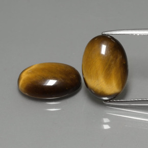 Golden Brown Tiger's Eye Gem - 4.5ct Oval Cabochon (ID: 390833)