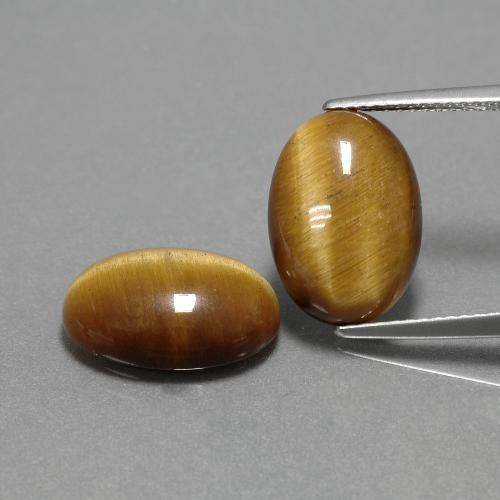 Gold Brown Tiger's Eye Gem - 4.5ct Oval Cabochon (ID: 390903)