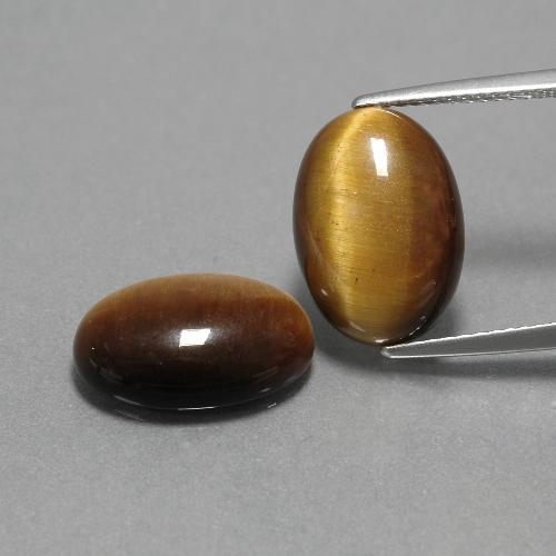 Gold Brown Tiger's Eye Gem - 4.5ct Oval Cabochon (ID: 390907)