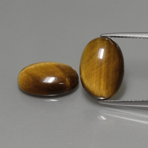 Gold Brown Tiger's Eye Gem - 4.5ct Oval Cabochon (ID: 391034)
