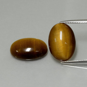 Warm Brown Tiger's Eye Gem - 4.5ct Oval Cabochon (ID: 396406)