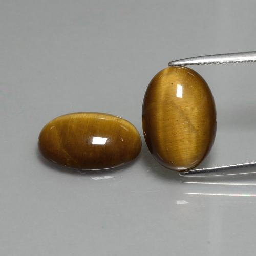Warm Brown Tiger's Eye Gem - 4.6ct Oval Cabochon (ID: 396479)