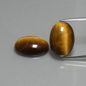 Gold Brown Tiger's Eye Gem - 4.5ct Oval Cabochon (ID: 396480)