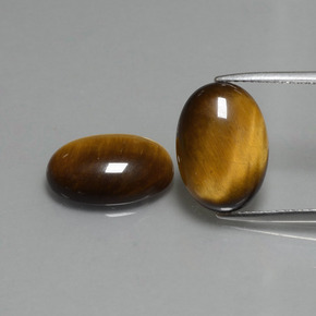 Golden Brown Tiger's Eye Gem - 4.5ct Oval Cabochon (ID: 396484)