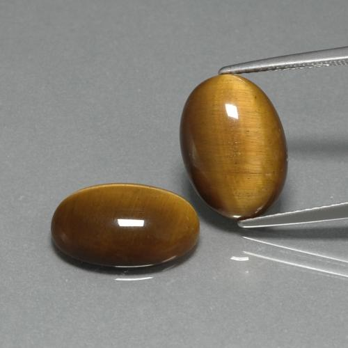Golden Brown Tiger's Eye Gem - 4.5ct Oval Cabochon (ID: 396671)