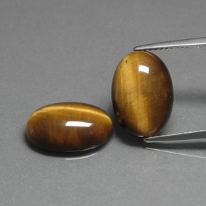 Medium Brown Tiger's Eye Gem - 4.5ct Oval Cabochon (ID: 396761)