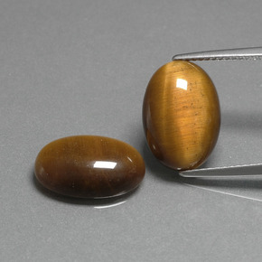 Medium Brown Tiger's Eye Gem - 4.5ct Oval Cabochon (ID: 396762)