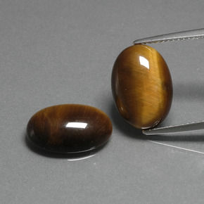 Gold Brown Tiger's Eye Gem - 4.6ct Oval Cabochon (ID: 396768)