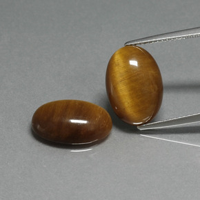 Gold Brown Tiger's Eye Gem - 4.5ct Oval Cabochon (ID: 396887)