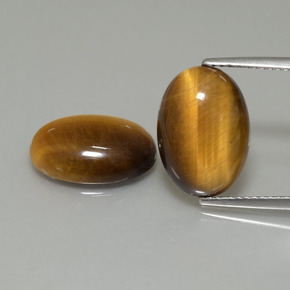 Gold Brown Tiger's Eye Gem - 4.5ct Oval Cabochon (ID: 396985)