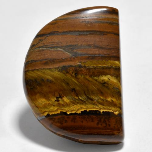 Medium Brown Occhio di tigre Gem - 39.4ct Cabochon fantasia (ID: 461921)