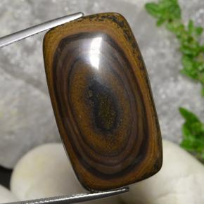 Gold Brown Tiger's Eye Gem - 60ct Cushion Cabochon (ID: 472178)
