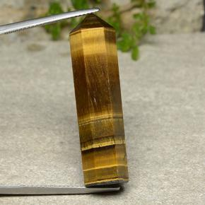 Warm Brown Tiger's Eye Gem - 24.9ct Pencil (ID: 486466)