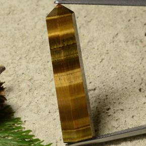17.7ct Pencil Gold Brown Tiger's Eye Gem (ID: 486600)