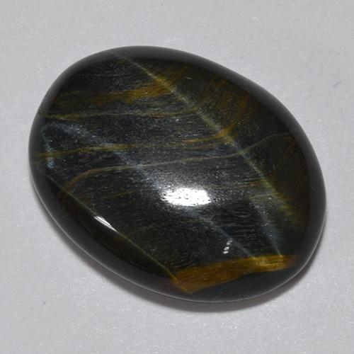 Multicolor Tiger's Eye Gem - 11.8ct Oval Cabochon (ID: 513683)