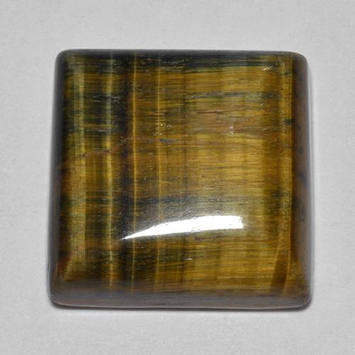 Multicolor Tiger's Eye Gem - 21.3ct Square Cabochon (ID: 514053)