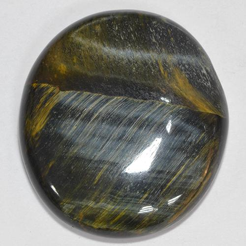 Multicolor Tiger's Eye Gem - 39.9ct Oval Cabochon (ID: 514056)